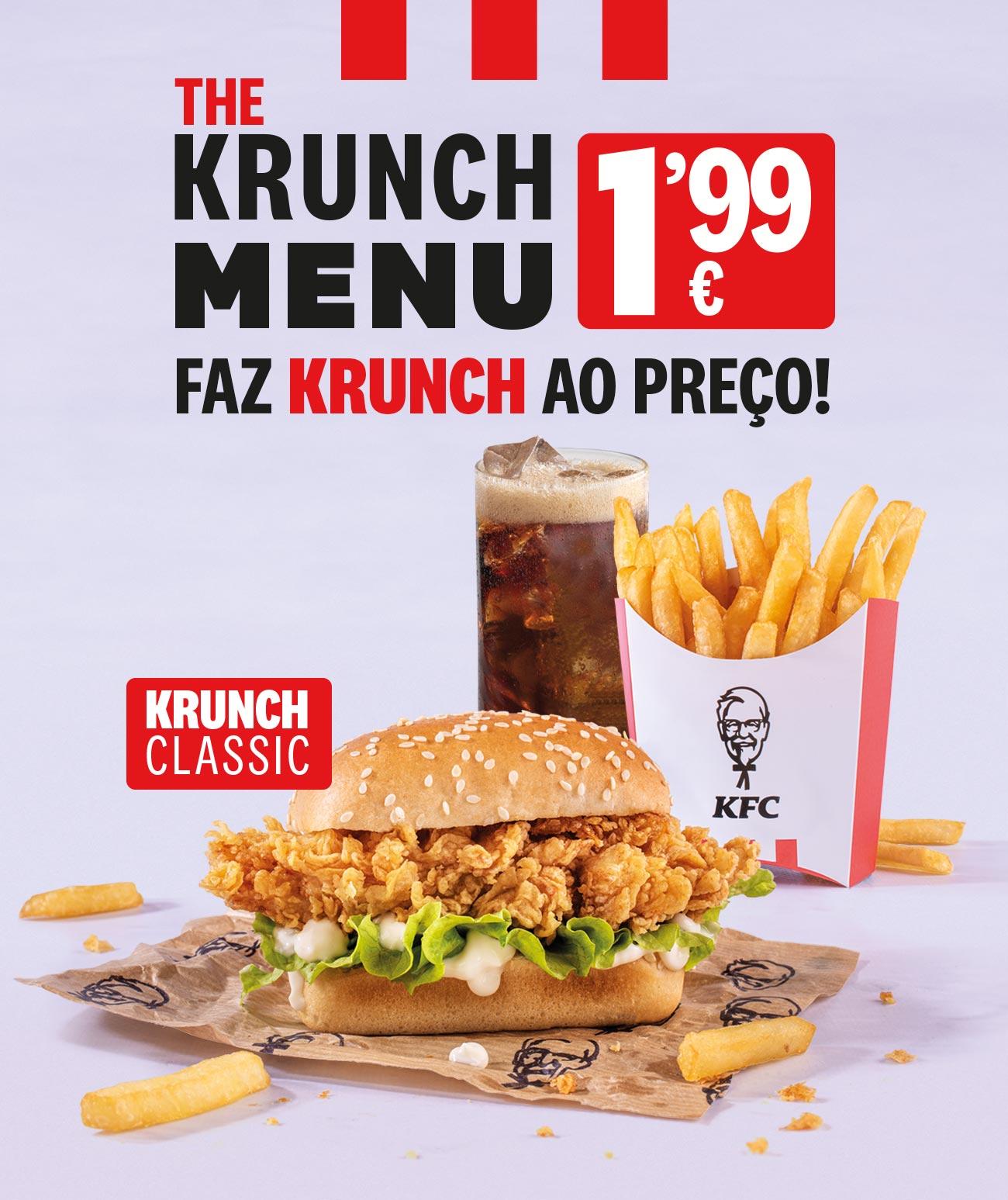 The Krunch Menu 1,99€ KFC